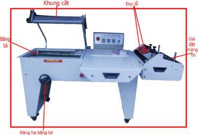 Cấu tạo máy cắt màng co khí nén