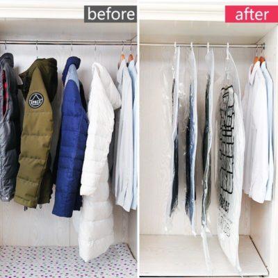 Hút quần áo để tiết kiệm không gian cất giữ