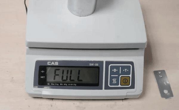 Hiệu chuẩn mức độ tải trọng 3kg
