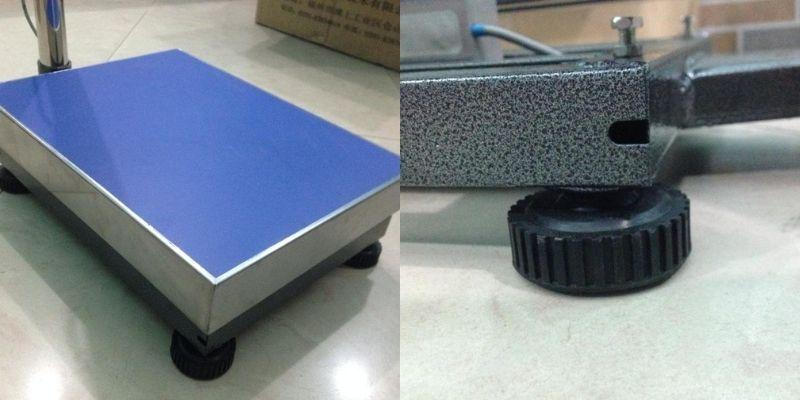 Khung cân được sơn tĩnh điện và được thiết kế vững chắc với 4 chân
